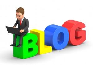 man reading a blog